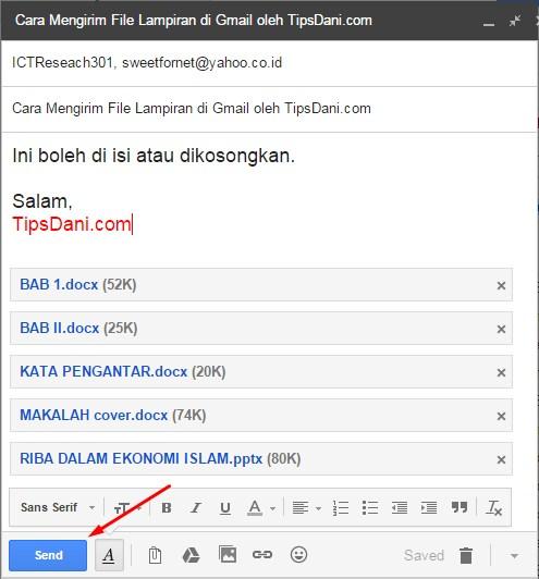 cara mengirim file di gmail 3