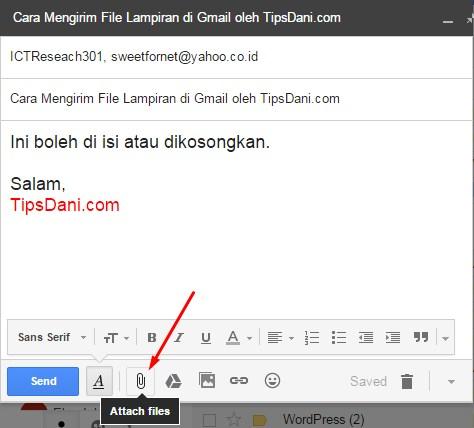 cara mengirim file di gmail