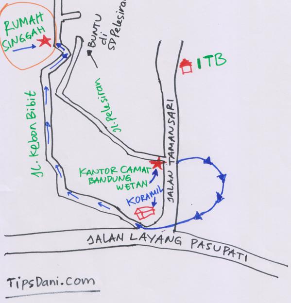 Peta Rumah Singgah Bibir Sumbing Bandung